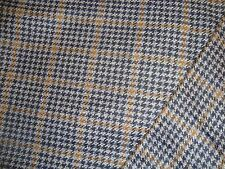 "2.6 yd WOOL CASHMERE HOUNDSTOOTH PLAID 11 oz FABRIC Coat Rug Hook 60"" x 96"""