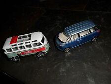2 LOT MATCHBOX COCA COLA REALRIDER 1967 VW BUS & JOHNNY LIGHTNING CONCEPT MICRO