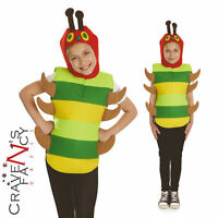 Child Very Hungry Caterpillar Costume Book Week Boys Girls Bug Kids Fancy Dress
