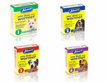 More details for johnsons one dose easy wormer dog worm worming tablets roundworm tapeworm