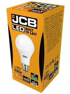 15w = 100w LED GLS Bayonet Light Bulb Cool White 100 Watt JCB
