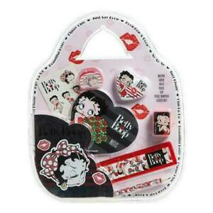 Betty Boop 7pc Stationery Set On Handbag Shape Pack, Betty, School, Writing