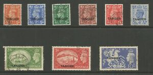 MOROCCO AGENCIES TANGIER THE 1950-1 GVI SET OF 9 FINE USED