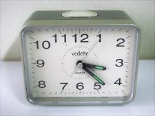Réveil vintage gris Vedette - Horloge pendule mouvement Old clock
