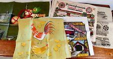 5 Linen Cotton Kitchen Towels  - VERA  / IRELAND / PA COVERED BRIDGES