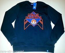 ADIDAS ORIGINALS TRE-FOIL BLUE/ORANGE CREW SWEATSHIRT MENS 2XL/ KNICKS