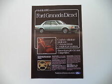 advertising Pubblicità 1979 FORD GRANADA DIESEL