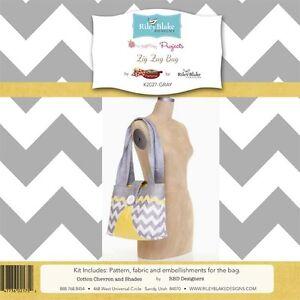 Zig Zag Bag Gray Fabric Kit, Riley Blake Designers, Riley Blake, PRICE REDUCED