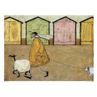 Art Group 'Along the Prom' by Sam Toft Painting Print 40cm H x 50cm W