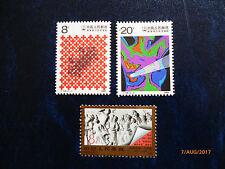 PRC China 1989 / T136+J158 / Mi.#2231-32** +2233** Complete Set / MNH