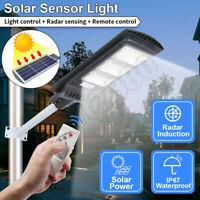 90W LED Solar Street Light Radar PIR Motion Sensor Wall Timing/Lamp Pole Remote