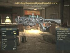 Fallout 76 Xbox Enclave Plasma Flamer JUNKIES FFR 25 25 LESS VATS FULLY MODDED