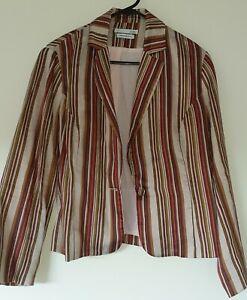 Stunning SABA striped  linen blazer size 12