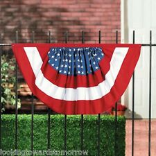 Bunting Patriotic USA Flag Star-Spangled RED WHITE & BLUE July 4th Swag Pennant