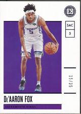 2019-20 Panini Encased Purple #42 De'Aaron Fox /35