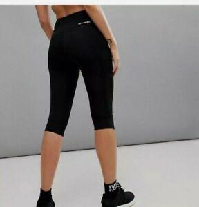 """Ivy Park """"Y"""" High Rise Capri Leggings Crop Athletic Workout Pants Black Sz S EUC"""