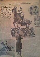JULY 17, 1910 NEWSPAPER #J5600- EQUESTRIAN- MS RASMUSSEN AMERICA'S TANBARK QUEEN