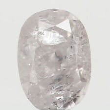 Natural Loose Diamond Oval Light Pink Color I2 Clarity 4.00 MM 0.18 Ct N7728