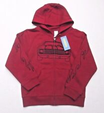 ❤ GYMBOREE Car Jacket 5 6 New red flame Hoodie sweatshirt NWT size S FREESHIP