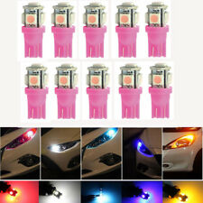 10x T10 5050 W5W 5 SMD 194 168 LED Car Side Wedge Tail Light Lamp Bulb Pink