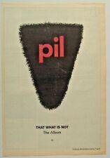PiL 1992 POSTER ADVERT THAT WHAT IS NOT public image ltd
