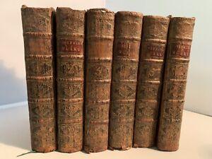 Flavius Josephus 1751 The Whole Works 6 Volume Set Full Leather Jewish History!