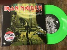 Iron Maiden-Running Free/Green vinyl single EP/MINT