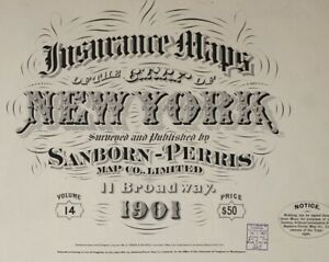 Bronx, New York~Sanborn Map©~sheets~ 65 maps in color~Vol. 14