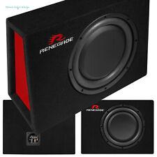 Renegade RXS-1000 25cm Flach-Subwoofer 400 Watt Auto Sub Bassbox Kompakt