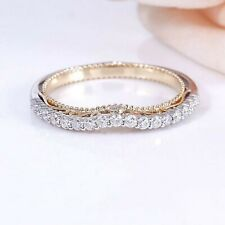 1.70 CT Diamond Eternity Wedding Band Excellent Round Shape Solid 14K White Gold