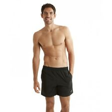 Speedo Mens Solid Leisure 16inch Swim Short Medium Black