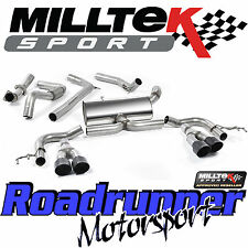 "Milltek Honda Civic Type R FK2 2016 Exhaust 3"" Cat Back RACE System Non Res BLK"
