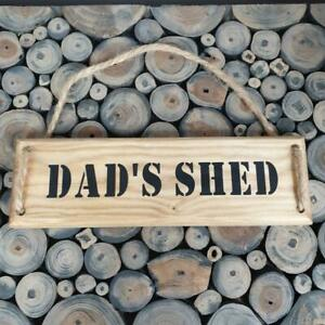 Handmade  'DAD'S SHED'' wall plaque