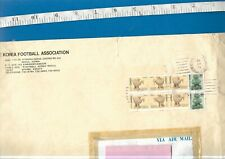 Large EMPTY Korea Football Association (Seoul) envelope. 1987 postmark