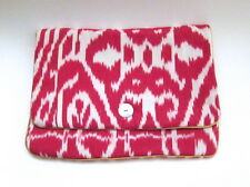 NEW $300 Madeline Weinrib Hot Pink Zigzag Ikat Print Laptop Case Laptop Sleeves