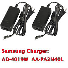 2 Pcs 40W 19V AC Adapter Power Supply Charger Cable For Samsung Laptop 3.0*