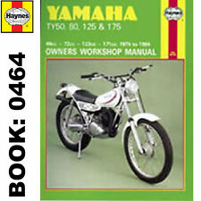 Yamaha TY50 TY80 TY125 TY175 1974-1984 Haynes Workshop Manual
