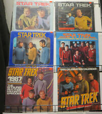 Star Trek Calendar Lot Of 17 1976-2002 Live Long And Prosper! FINE+