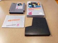 Collectible Rare METROID Super Nintendo NES 1987 Complete / Box Excellent