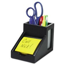 Victor Technology Midnight Black Collection Pencil Cup with Note Holder - 95055