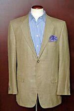 Ermenegildo Zegna Men's Beige & Brown Check Silk Wool Sport Coat Blazer 40L 40 L