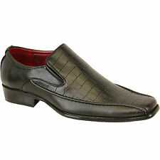GIO GINO ITALIAN SLIP ON BLACK SHOES SIZE 7 BNIB