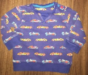 Boys Age 3-6 Months - Mini Club Sweater Top - Cars Patterned 🚗 🚙 🚘