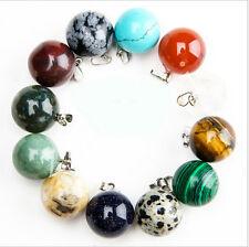2016 Fashion mixed natural stone round ball pendants charms 10pcs/lot wholesale