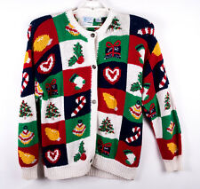 Countryside Classics Womens Hand-Knitted XL Cardian Sweater Christmas