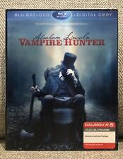 ABRAHAM LINCOLN VAMPIRE 3D 2D blu ray w/RARE TARGET EXCLUSIVE SLIPCOVER NEW MINT