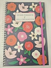 Bill Organizer Amp Home Finance Book Monthly Pockets Blue Red Pink Flowers New