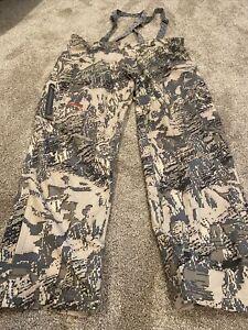 Sitka Mens XL Overalls Hunting Bibs Pants EUC