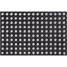 Alfombra goma - negro - 150cm x 100cm x 2.2cm - Alta calidad