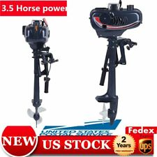2-Stroke 3.5HP Heavy Duty Outboard Motor Boat Engine w/ Water Cooling System US